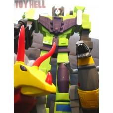 Transformers G1 Jumbo Vinyl Figure SET - DEVASTATOR - GRIMLOCK - SLAG